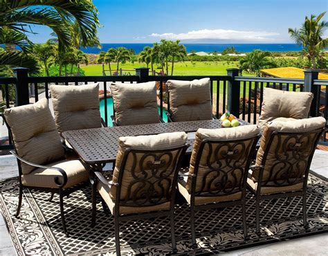 8 Person Patio Table Tortuga 42x84 Rectangle Outdoor Patio 9pc Dining Set For 8 Person With Rectangle Table
