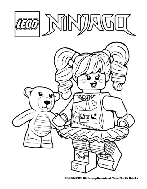 ivy joy coloring pages lego colouring page n pop girl true north bricks