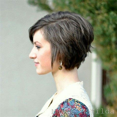 chop cute short haircuts back and front stacked back long pixie cut hair pinterest short