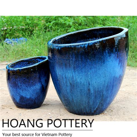 Pottery Planters by Blended Colours Ceramic Planters Hptv043 Hoang Pottery