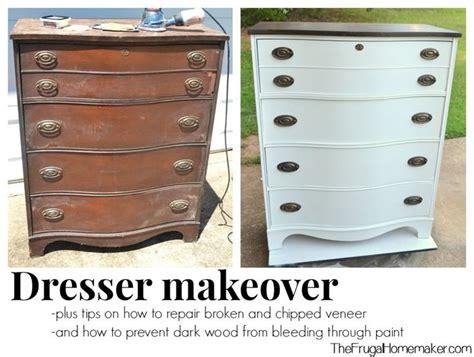 Veneer Dresser Makeover by Dresser Makeover How To Repair Veneer And Keep Wood