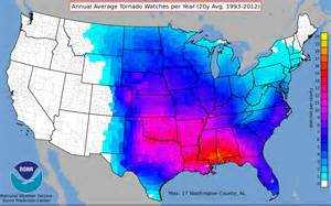 us map by year where tornadoes strike the us most often business insider