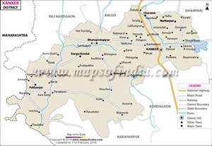 district maps kanker district map