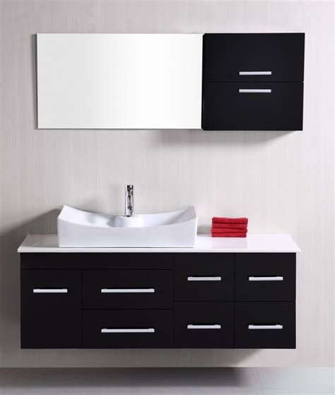 53 inch bathroom vanity 53 inch modern single sink bathroom vanity in espresso