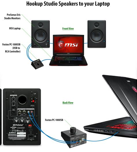 connect usb to how to connect studio speakers to your laptop usb port