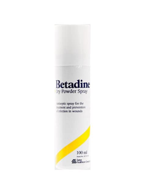 Betadine Powder Spray betadine powder spray 100ml