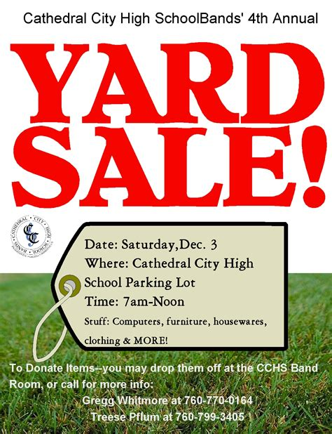 Garage Sale Flyer Template Word by Cchs Bands Commitment To Excellence