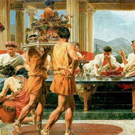 banchetti antica roma banchetti romani flatulenze scarti di cibo ed altre