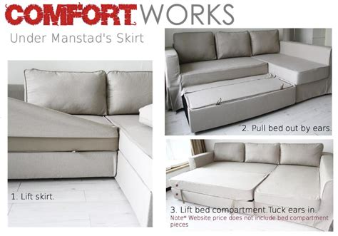 Ikea Manstad by Slipcover For Manstad S Sofa Bed Compartment