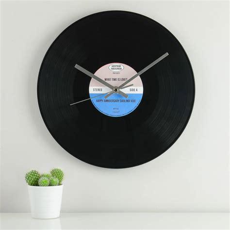 vinyl record wall clock personalised vinyl record wall clock by mixpixie