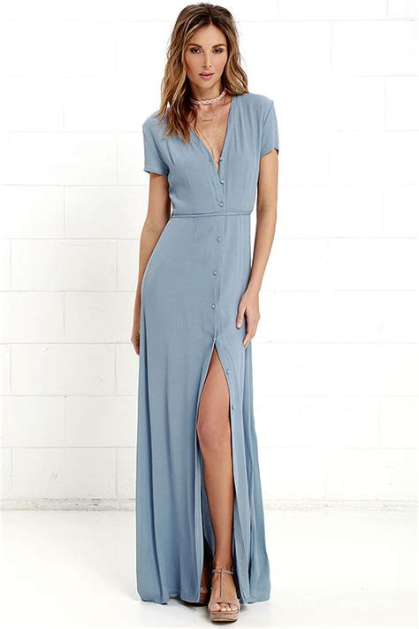 Suki Dress Maxi Bonita Navy lovely dusty blue dress sleeve dress maxi dress