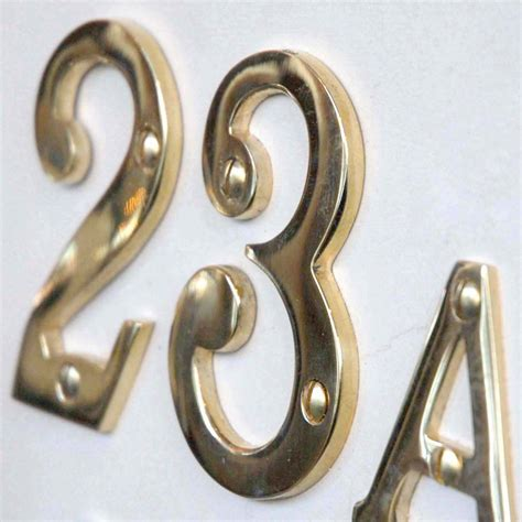 brass house brass 3 inch house numbers