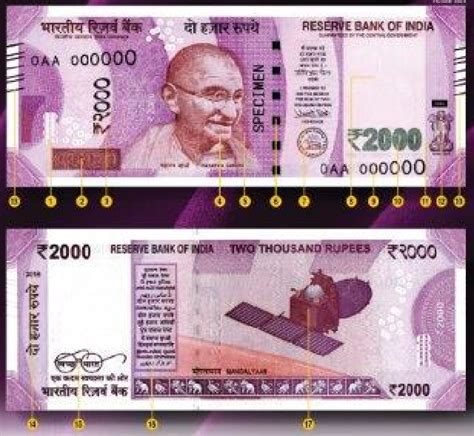 new rs 500 rs 2000 rupee notes look rbi new design 2000 rupee bank notes features