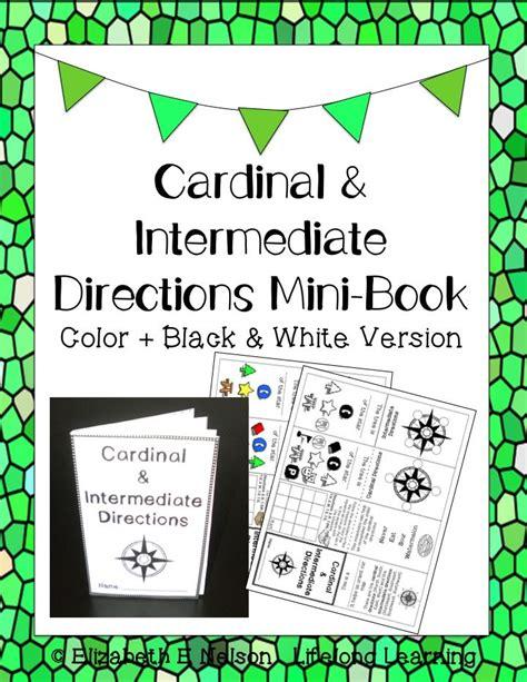 printable cardinal directions cardinal and intermediate directions mini book print go