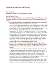 Essay Identity Questions by History Ap United Cedar Shoals High School Page 1 Course