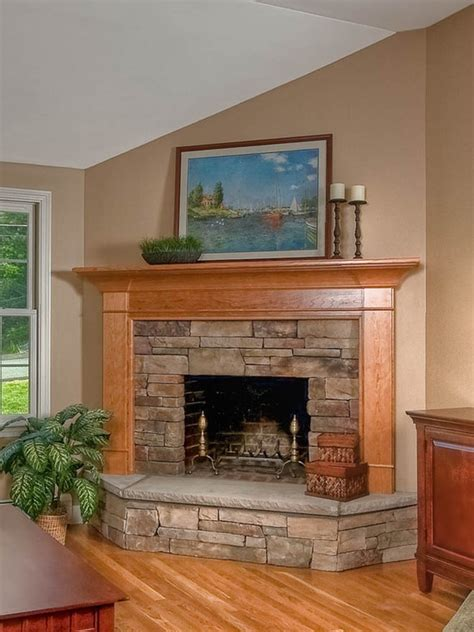 corner fireplace design home ideas