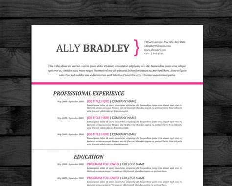 interactive digital media create a professional resume resume template professional cv template mac pc