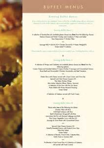 wedding menus buffet buffet menus for weddings
