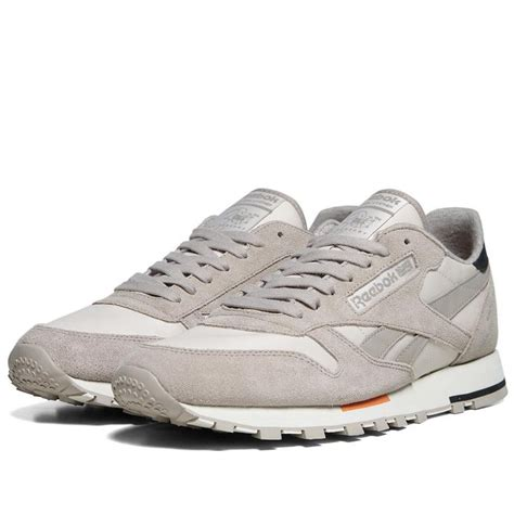 reebok classic leather retro suede khaki sneakers