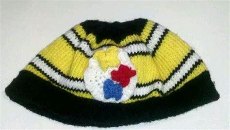 crochet pattern steelers logo knit steelers hat with crocheted logo pittsburgh knits