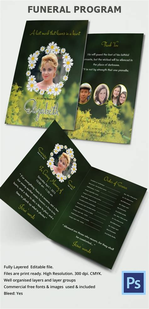 funeral program template    documents