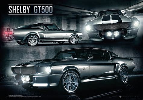 Mustang Auto Poster by Ford Shelby Mustang Gt500 Metalick 253 Plak 225 T Kupujte