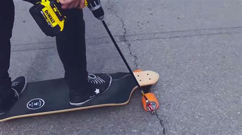 DIY Drill powered Skateboard Left Us Pretty Much Speechless   MIKESHOUTS