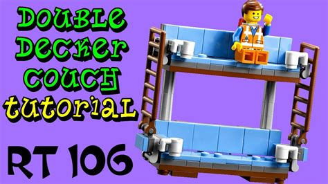 how to build a double decker couch how to build lego double decker couch round table 106