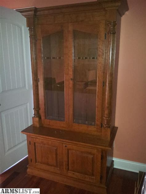 gun cabinet for sale armslist for sale trade solid cherry 9 rifle gun