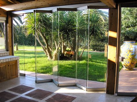 Contemporary Natural Accordion Glass Door Design With Accordian Glass Doors
