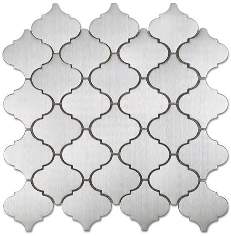 Marble Kitchen Backsplash by Arabesque Mosaic Stainless Steel Tile