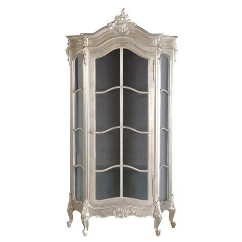 french armoire display cabinet tiffany silver french glazed display cabinet french