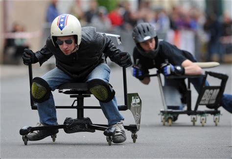 office chair racing