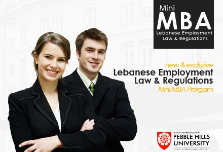 Mba Or Lawyer by Mini Mba In Lebanese Employment Regulations