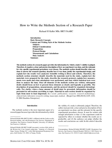 how to write a methods section for a research paper 28 methods in research paper research paper