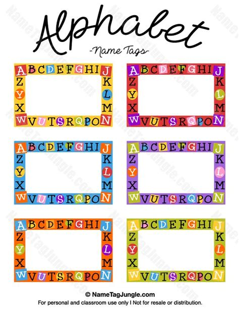 printable alphabet  tags  template