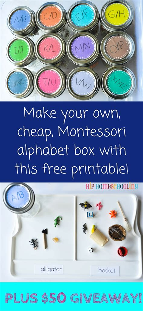 printable montessori letters montessori alphabet box free printable and giveaway