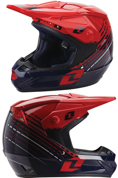 one helmets motocross one industries atom lazr mx motocross helmet blue