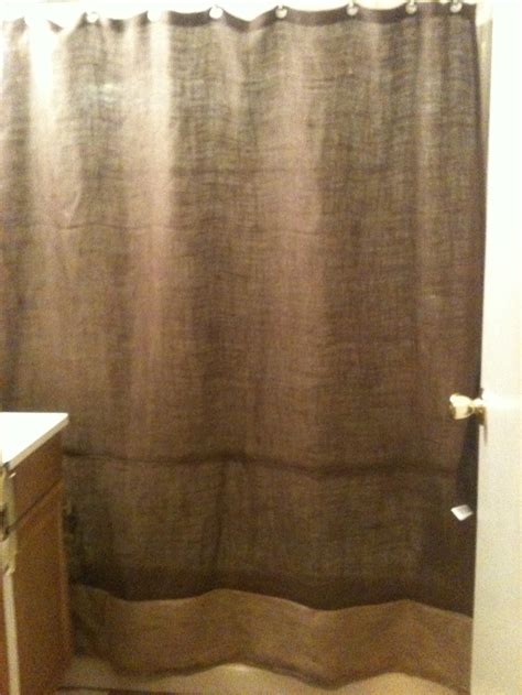 Burlap Shower Curtain With Bullion Fringe by Burlap Shower Curtain Ps I Made This