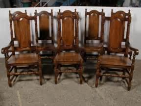 Antique Oak Dining Room Chairs Set 8 Elizabethan Tudor Oak Dining Chairs Chair Antique Dining Room
