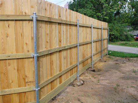 fence building wood fence with metal post building construction diy building wooden fence with metal posts
