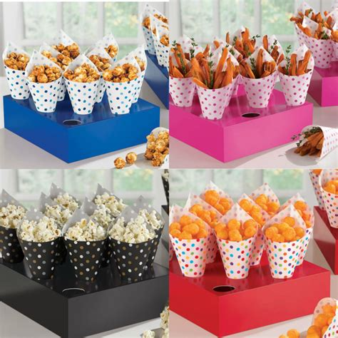 Snack Paper by 40 Snack Cones Tray Popcorn Chips Treat Cone