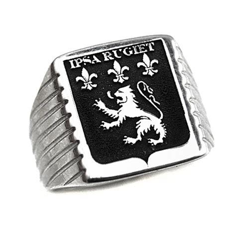 Chevaliere Armoirie by Chevaliere Homme Argent Avec Armoiries