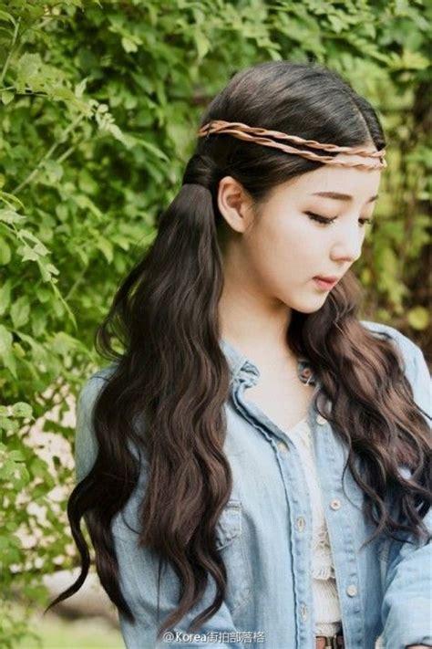 Wig Wavy Mermaid Wave Kawaii Ulzzang wavy hair headband i look nothing like but this is