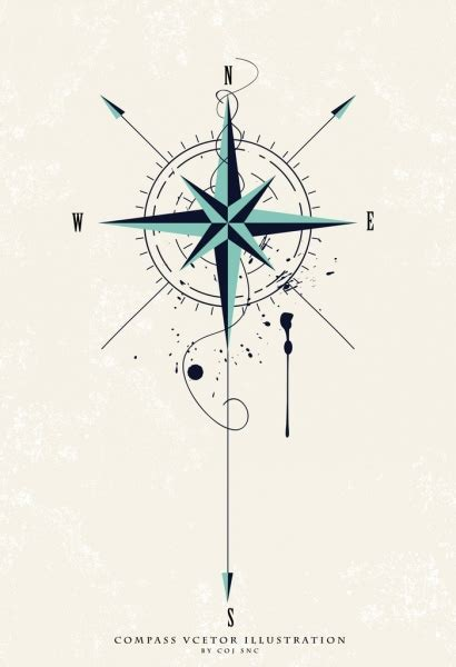 vector compass  vector    vector  commercial  format ai eps