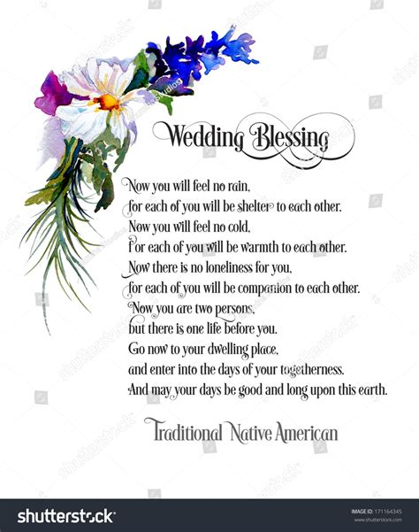 Wedding Blessings American Indian by Original Flowers Framing Traditional American