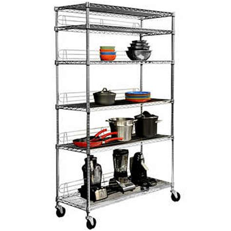 wire shelving costco ecostorage nsf 6 tier wire shelving rack