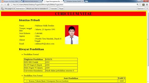 membuat background gambar di tabel html my story contoh membuat cv curriculum vitae sederhana