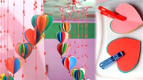 Colour Paper Crafts - diy crafts decorative wall hanging with with colour paper