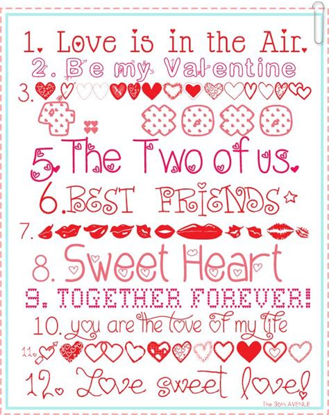 printable love fonts 39 best images about free printables on pinterest